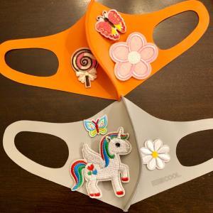 Costcoで買った子供用マスクを可愛く変身♡