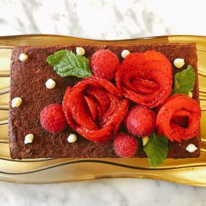 薔薇苺のチョコレートケーキ♡初挑戦で覚書