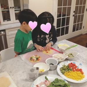 子供達と一緒にピザ作り♡美味しい黒トリュフ塩