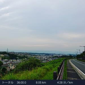 雨の連休初日~7月13日のRUN~