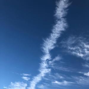 龍雲を眺めながら