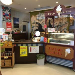 ダブル(牛乳・パリパリチョコ)ジェラート(高知県室戸市・道の駅キラメッセ室戸 食遊鯨の郷)