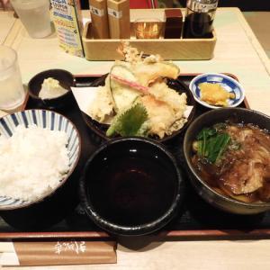 きしめん亭の天ぷら定食