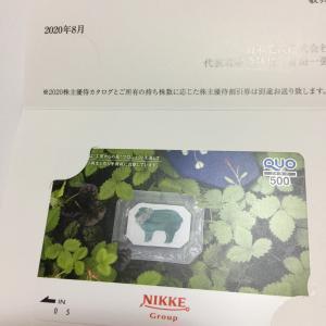 【株主優待到着】日本毛織、クオカードが届いています。