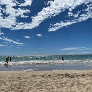 ハプナビーチでサンセット