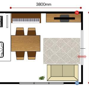 家具の配置アドバイス!3.8m×3.6mのリビングダイニングに『島ソファ』と…驚きの配置術を提案