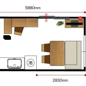 賃貸物件でも家具の配置提案!将来マンションへ引っ越すことを想定した家具の提案!