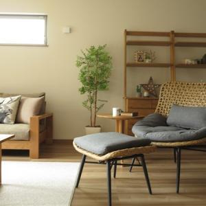 掃き出し窓が1箇所しかないLD空間だからできる家具の配置術!壁があるから背の高い収納家具が置ける
