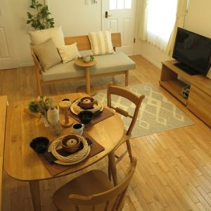 8.5帖のLD空間に3パターンの家具の配置を提案!ソファをソファダイニングとすることで…