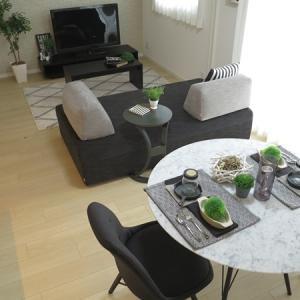 6.6帖のリビングダイニング空間と4.4帖の洋室をつなげて11帖のLD空間に家具を提案!
