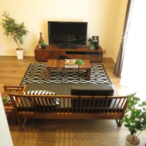 格子デザインの家具を取り入れた和風モダンスタイルのコーディネートを提案させて頂きました。