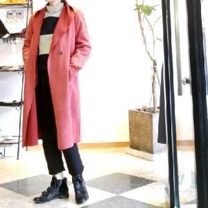 気軽に着流す軽~いコート スエードライクの3色ご紹介
