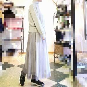 冬のチュールは暖か冬仕様 大人可愛いふわふわロングスカート