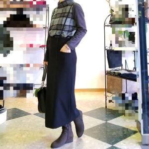 シンプルな大人のストラップスカート 簡単にキマル楽ちんアイテム