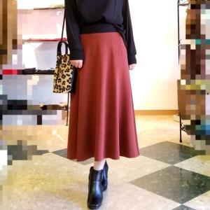 綺麗な紅柿色のフレアスカート ジャパニーズカラーを楽しもう