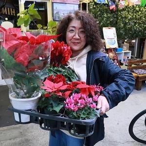お花を貰うのって嬉しいですよね♪