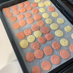 クッキーを作っていたようです!