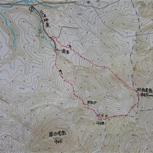 北白老岳(945m)~白老岳(968m)