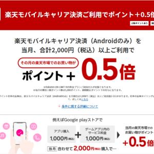楽天モバイルキャリア決済SPU達成おすすめアプリ9選