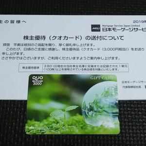 2019年到着186個目 『日本モーゲージサービス』の株主優待
