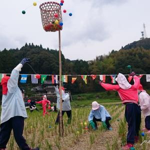 箸休めに  案山子村の保育園の運動会