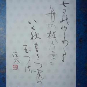 七夕に和歌を書きたくなった頃-たなばたのとわたる舟の梶の葉に…