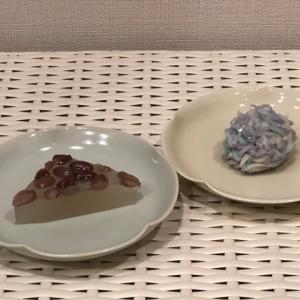 京都北大路 紫野源水 水無月と紫陽花