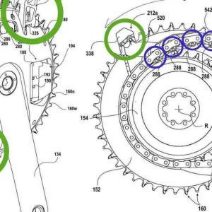 SRAMの新ワイヤレス変速システム!「フロントリング自体に直接ディレイラーを3つ設置」の狂ったシステムを開発【特許申請】