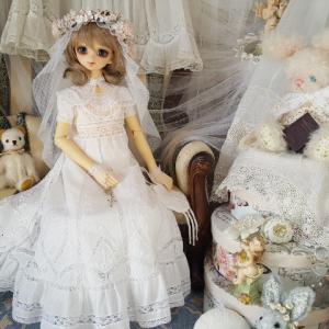 SD少女の為の白糸刺繍ドレス完成!その1