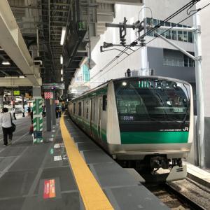 JR渋谷駅、山手線と並んだ埼京線ホームで初通勤