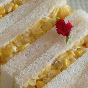 掲載レシピ*とうもろこしのサンドイッチ