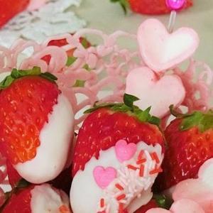 レシピ*ストロベリーチョコレートバスケット ♪ かわいいバレンタインチョコレート