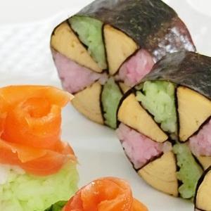 レシピ*簡単かわいい ♪ 花手まり寿司、おひな祭りやお花見におすすめ!