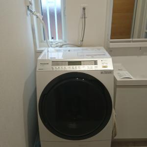 清水町内にてパナソニックドラム洗濯機納品!