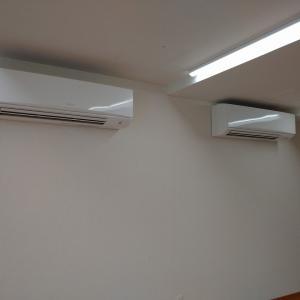 三島市内の集会場でエアコン新設工事!