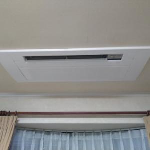 駿東郡長泉町で天井ビルトインエアコン設置工事!