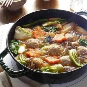 肉だんごとたっぷり野菜のシャンタン鍋♪