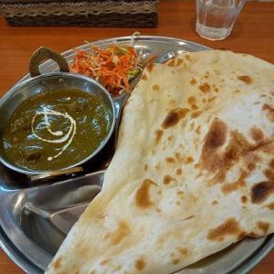 「インド料理サティ」でカレーランチと、「箱崎小豆庵」の和菓子