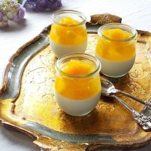 ヨーグルトムースとオレンジジュレ