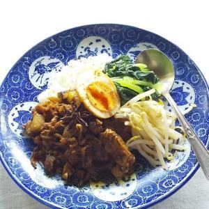いつもの・・・台湾風カレー と マンゴーシャーベット
