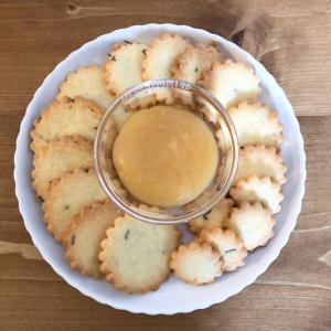 ローズマリークッキーとレモンカード