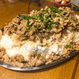 【焼肉丼4.8kg】焼肉のタレで作る家焼肉丼!!【動画のお題:ブログの歴史について】