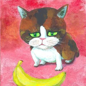 バナナ・・・て思ってる猫