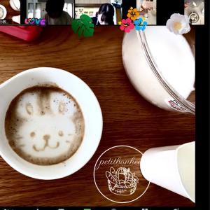 《レポ》今日も~デザインラテアート♡ 体験お茶会♪