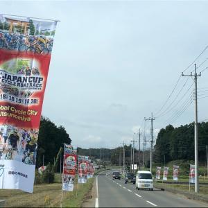 【ロードレース】浄化槽の点検で鹿沼市、帰り道サイクルロードレース旗