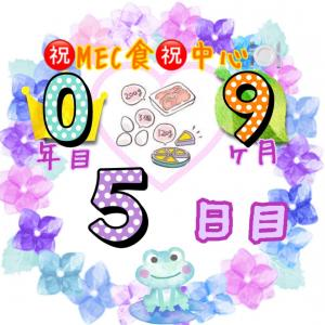 新MEC食9ヶ月5日目!いろいろ食べすぎて+600gからのスタート【total−12.4㎏】