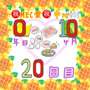 新MEC食10ヶ月20日目!体重キープ!停滞期??【total−15.2㎏】