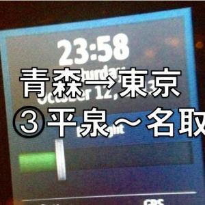 青森→東京 耐久ラン ③平泉→名取