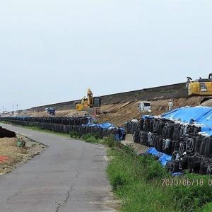 海岸大外回り道路の工事