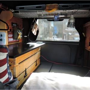 車内棚板の設置(その3完成)